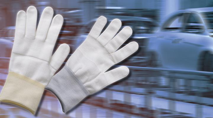 Bild vom Case Nylon-Handschuhe zur Nahtabdichtung
