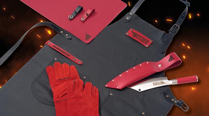 Bild vom Case Grillschürzen mit eigenem Branding und Grillhandschuhe