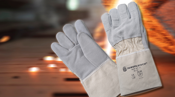Bild vom Case Spaltlederhandschuhe zum Arbeiten mit Gussteilen