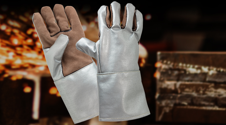 Bild vom Case Hitzeschutzhandschuhe für die Metallverarbeitung