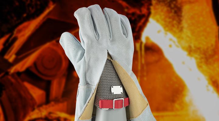 Bild vom Case Hitzeschutzhandschuhe zur Arbeit an Bandbeschichtungsanlagen